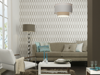 Papel de parede para sala paper land for Sala de estar com papel de parede 3d