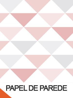Papel de Parede Infantil geométrico com triângulos rosa