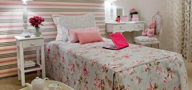Dicas para decorar quarto feminino com papel de parede.