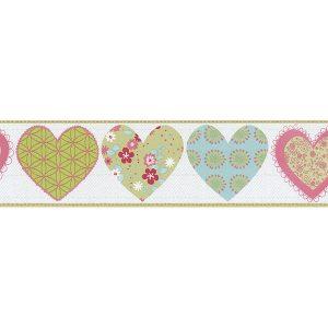 faixa de papel de parede de coração