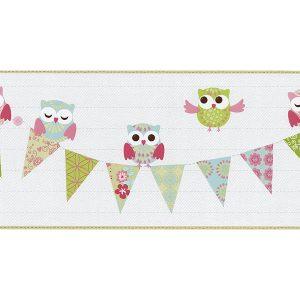 faixa de papel de parede de coruja