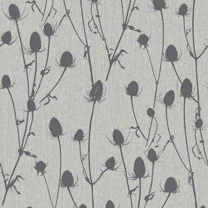 papel de parede ramos cinza