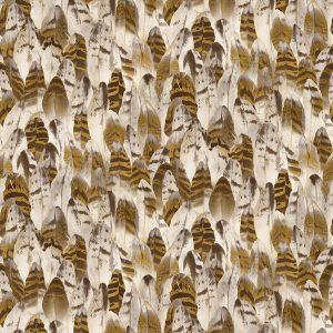 papel de parede estampado dourado