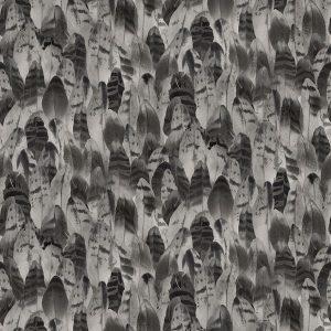 papel de parede estampado preto e cinza