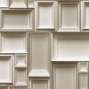 papel de parede estilo Boiserie