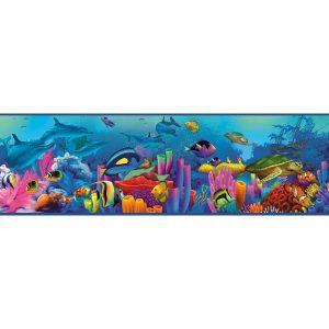 faixa de papel de parede fundo do mar