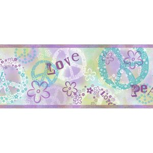 border de papel de parede love and peace
