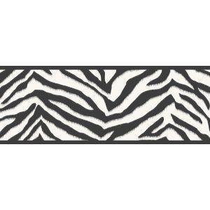 border de papel de parede de zebrinha