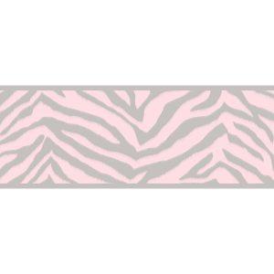 border de papel de parede de zebrinha rosa
