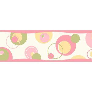 border de papel de parede bolas rosa
