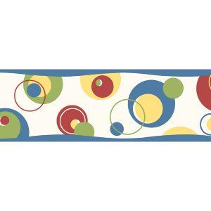 borde de papel de parede de bola coloridas