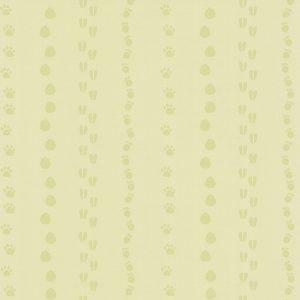 papel de parede infantil verde de patinhas