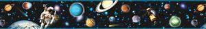 faixa de papel de parede infantil | planetas