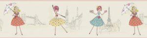 faixa de papel de parede de bailarina