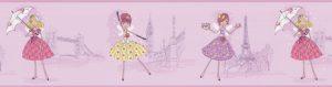 faixa de papel de parede infantil bailarina