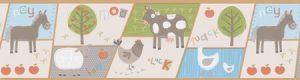 faixa de papel de parede fazendinha | Animais