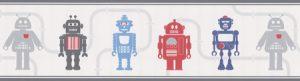 faixa de papel de parede robô