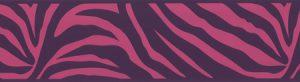 faixa de papel de parede de zebrinha