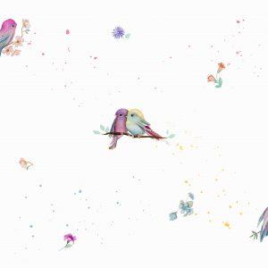 Papel de parede Infantil passarinhos - Ref: 3607