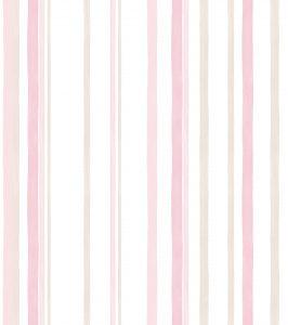 Papel de Parede Listrado Rosa - Ref: 3610
