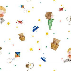 Papel de Parede com brinquedos - Ref: 3615