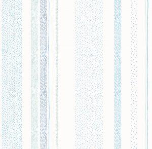 Papel de Parede Infantil Listrado Azul - Ref: 3622