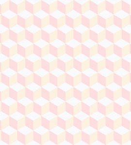 Papel de Parede Geométrico Rosa - Ref: 3643