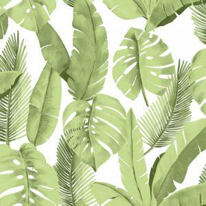 Papel de Parede Folhas Verde ref. 3702