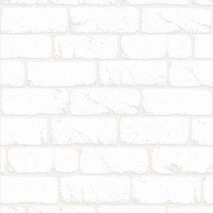 Papel de Parede Tijolinhos Brancos 3805
