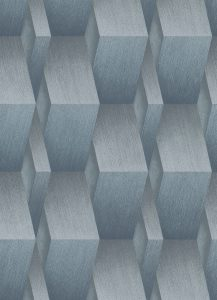 Papal de parede 3D azul prateado 10046-08