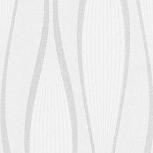 Papel de Parede Listras curvadas cinza e branco 4033-01