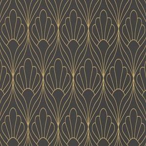 Papel de Parede estilo petalas douradas 6389-15