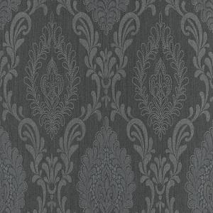 Papel de parede estilo arabesco preto 10030-15