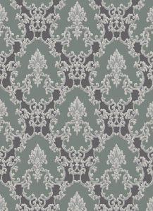 Papel de parede arabesco verde e preto 6376-18