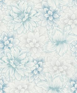 Papel de parede flordo Azul 5425-08