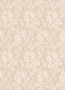 Papel de parede florido bege 6379-02