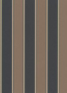 Papel de parede listrado marrom com preto 6377-11