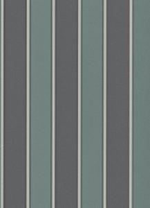Papel de parede listrado preto Verde 6377-18