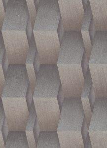 Papel de parede marrom 3D prateado 10046-30