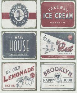 Papel de parede quadros vintage 6365-06