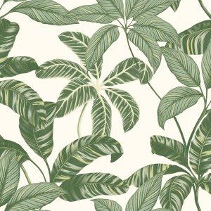 Ref: 4100 - Papel de Parede Florido Verde