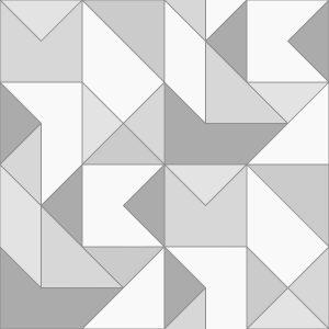 Ref: 4105 - Papel de ParedeGeométrico Cinza