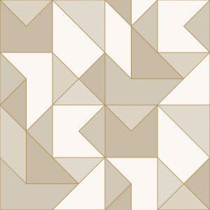 Ref: 4108 - Papel de Parede com triângulos e formas abstratas