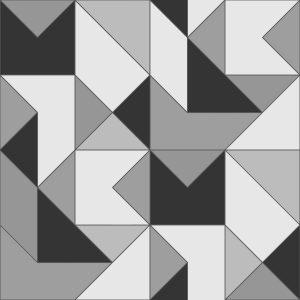 Ref: 4109 - Papel de ParedeGeométricopreto e cinza