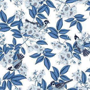 Ref: 4116 - Papel de Parede inverno floral.