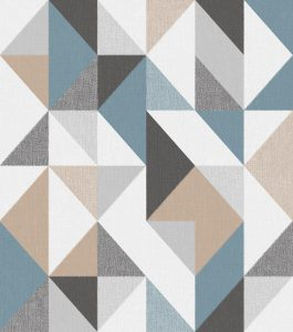 Ref: 4118 - Papel de Parede simétrico colorido.