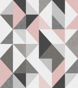 Ref: 4120 - Papel de Parede simétrico com formas triangulares.