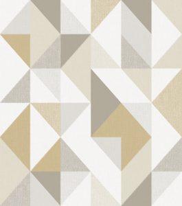 Ref: 4121 - Papel de parede Geométrico com formas triangulares
