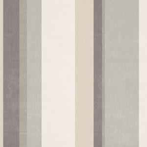 Ref: 4137 - Papel de parede em linhas nas cores Cinza e Creme.