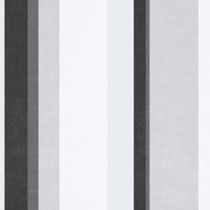 Ref: 4138 - Papel de Parede Listrado Preto e Cinza.